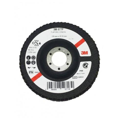 Торцевой конический лепестковый круг 3M Cubitron II 577F