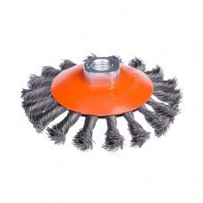 Щетка по металлу Дніпро-М 1003 конусная, плетенная, 115 мм